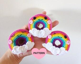 Rainbow Donuts - PDF Pattern, amigurumi, crochet