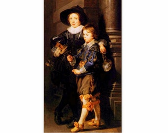 The Artist's Sons, Albert and Nicolas by Peter Paul Rubens - an Original, Vintage 1954 Frameable Art Print
