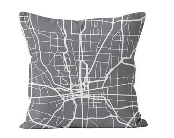 54 colors Columbus city map throw pillow cover, Columbus decor, Columbus gifts pride, Columbus new home missing moving gift