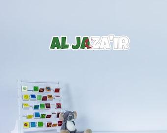 National Flag Country Name of Al Jaza'ir Vinyl Wall Art
