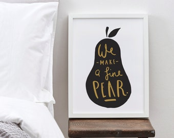 Pear Print A4 - Valentine's Print