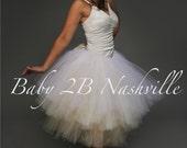 Wedding Tutu Skirt in Ble...