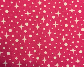 Rhoda Ruth Stars on Pink by Elizabeth Hartman for Robert Kaufman Fabrics