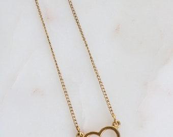 Vintage 12k Gold Filled Heart Necklace