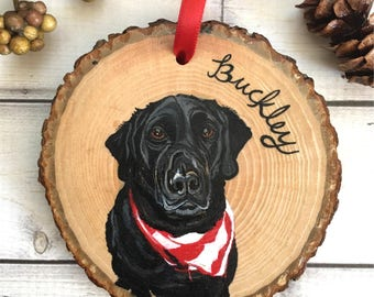 Hand Painted Pet Ornament - Custom Pet Ornament - Pet Ornament - Pet Portrait Ornament - Custom Dog Ornament - Pet Memorial Gift - Pet Gifts