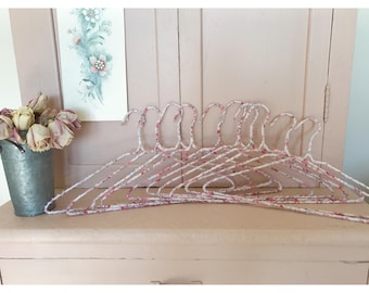 Romantic Floral Fabric Wrapped Hangers