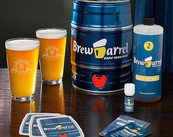 Custom Pint Glass & Beer Making Kit - A Fantastic Home Brew Kit for Any Enthusiast - Great Gifts for Birthdays, Holidays, or Any Occasion