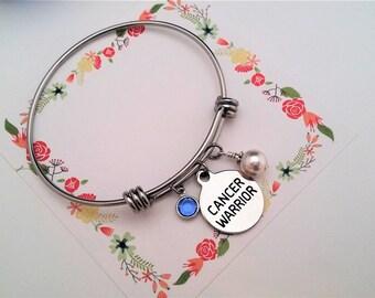 CANCER WARRIOR Bracelet Cancer Survivor Bracelet Gift Cancer Support Breast Cancer Support Cancer Awareness Bracelet Gift for Friend
