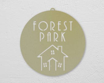 Forest Park Ornament/House Marker