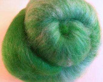 1.3 oz Batt Handpainted  BFL Silk and firestar spinning fiber