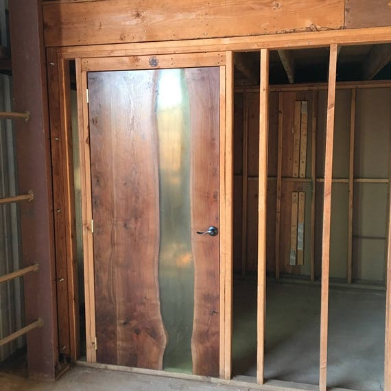 Walnut And Resin Clear River Front Door