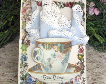 Victorian Tea Cup Blue