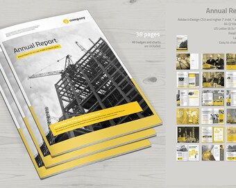 Annual Report Print Template   InDesign Template