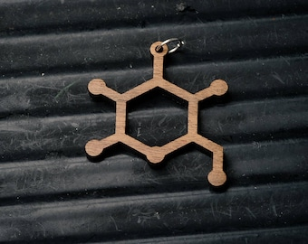 Glucose (sugar) Molecule Necklace pendant