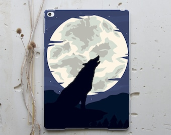 Wolf iPad 5 2017 Case New iPad 6 2018 Case Moon iPad 10.5 Cover iPad Mini 2 Hard Case iPad Air Clear Case iPad Mini 3 Smart Cover WC1279