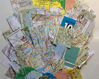 SALE** 2 for 1 Vintage map and atlas ephemera pack