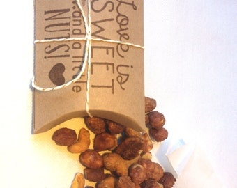 Cute bridal shower favors..Love is Sweet, and a little NUTS. Set of 20 Ready to ship. Beer Bridal Shower Favor.