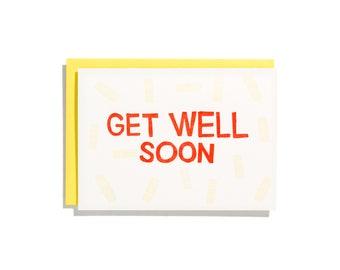 Get Well Soon - Letterpress Sympathy Card - CS098
