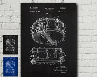 Drum blueprint etsy rogers dynasonic snare patent print instrument music drums drummer drum malvernweather Choice Image