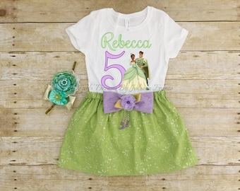 Tiana Birthday Shirt, Tiana Tutu, Tiana Outfit, Tiana Personalized Shirt, Girls Tiana Shirt, Princess Shirt, Tiana Birthday, Princess Tiana