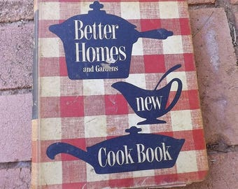 Vintage Better Homes and Garden New Cook Book Spiral  Hardcover