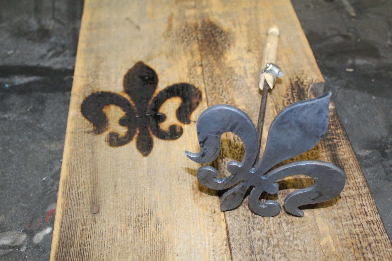 Fleur De Lis Wood Branding Iron