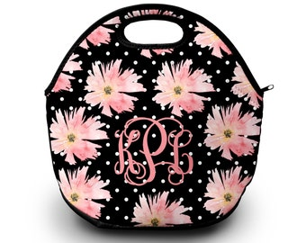 Lunch Bag, Monogrammed Lunch Box, Personalized Lunch Bag, Monogram Lunch Tote, Lunch Bag for Women |