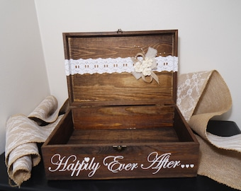 Wedding Happily Ever After Card Placement Box, Wedding Card Box, Card Placement Box for Weddings, Happily Ever After
