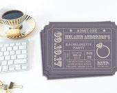 Bachelorette Party Invitation, Ticket Stub, Editable Invitation, DIY Template, Printable Invitation, Instant Download, Budget Bachelorette