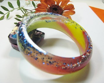 Handmade Bangle, Resin Jewellery, Unusual Jewellery, Resin Bangle Bracelet