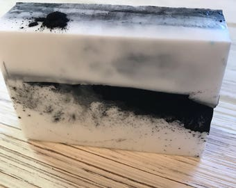 Peppermint Activated Charcoal triple butter soap