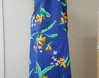 80s Hilo Hattie wrap dress