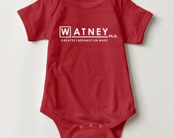 Watney Ph.D. Infant One Piece Baby Bodysuit | Cute Christmas gift for baby | kids clothing | Martian NASA Science Space Mars Planets