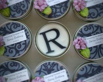 Regal Wedding Favor / 40 4oz soy candles /Gray Wedding / Regal Wedding / Bridal Shower Favor / lavender wedding / personalized wedding favor