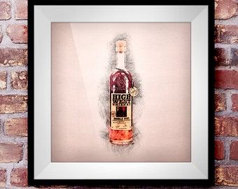 High West Double Rye - Crosshatch Whisky Wall Art