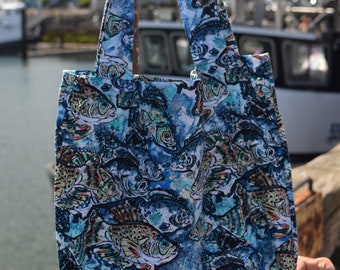 Blue Fish Market Bag