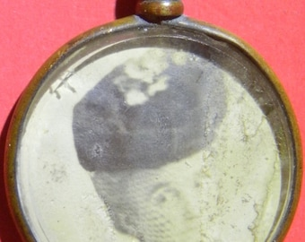 Charming Pictorial Pendant, Probably Edwardian or earlier.