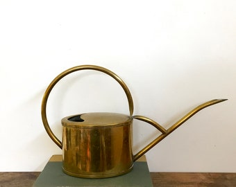 Vintage Solid Brass Watering Can