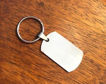 ID Tag Personalized Key Chain