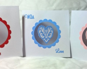 Decorative Spinning Heart Card