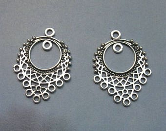 2 CHANDELIER connectors for jewelry making