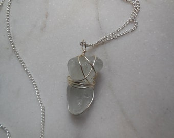 Sea Glass Wire Wrapped Necklace