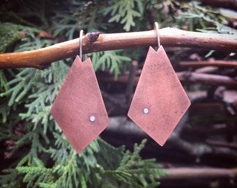 Geometric Earrings in Copper