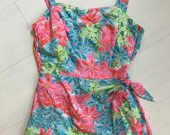 1960s Gabar New York Sunsuit/Playsuit/Swimsuit | Vintage Sarong Romper