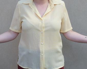 SALE Vintage Sommermann blouse, large
