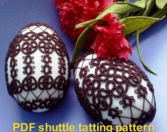 "Pattern for an easter egg dress (goose-eggshell size) in two versions ""AGA and FELA dress"" by Laura Bziukiewicz. PDFshuttleTattingPattern."