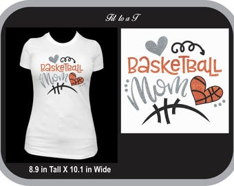 Glitter Basketball Mom T-Shirt, Basketball Mom T-Shirt, Basketball Fan Wear, Spiritwear, Basketball Mom Gift