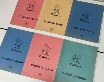 Choose! Unused French Vintage School Book, Cahier de Dessin, Exercise Book, Work Book