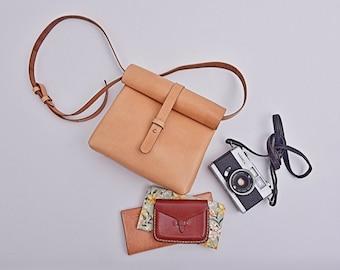 Leather shoulder bag vintage cross body bag leather handbag leather messenger bag brown