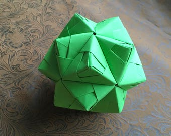Origami Ball, Modular in Green